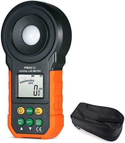 デジタルライトメーター、ハンドヘルド高精度照度ルクステスター光度計ルミノメーター分光計、家庭、オフィス、倉庫、ステージ、スタジアム、範囲200000Lux