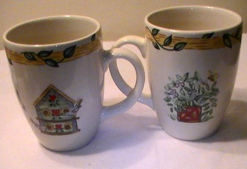 - Thomson Pottery Birdhouse Mugs - Four (4) Mugs