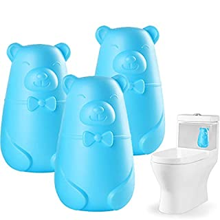 Automatic Toilet Bowl Cleaner, Toilet Tank and Bathroom Cleaning System, Blue Cleaning with Plant Scent (3-Pack)