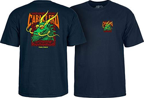 - Powell Peralta Steve Caballero Green Dragon and Bats Men's Short Sleeve T-Shirt - Navy - XXL