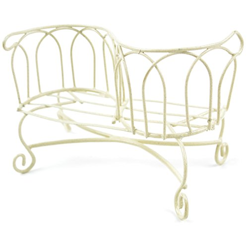 Cheap Touch of Nature Mini Iron Fairy Garden 2-Seat Bench, Cream