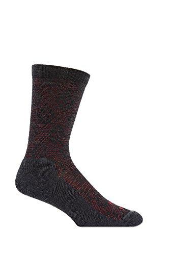 Farm to Feet Men's Raeford Lightweight Crew Socks, Large, Charcoal/Formula One