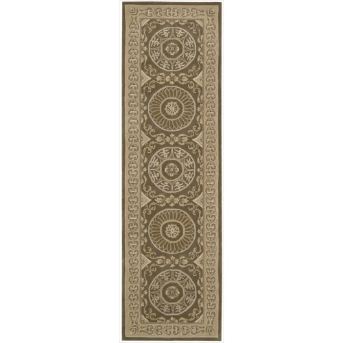 Nourison Versailles Palace (VP50) Mocha Runner Area Rug, 2-Feet 3-Inches by 8-Feet  (2'3