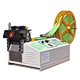 Hot and Cold Webbing Tape Cutting Machine Automatic Digital Belt Cutter Computer Control for Nylon Webbing Velcro Zipper Belt, Cutting Width 3.7inch / 95mm, Cutting Thickness 1-2mm
