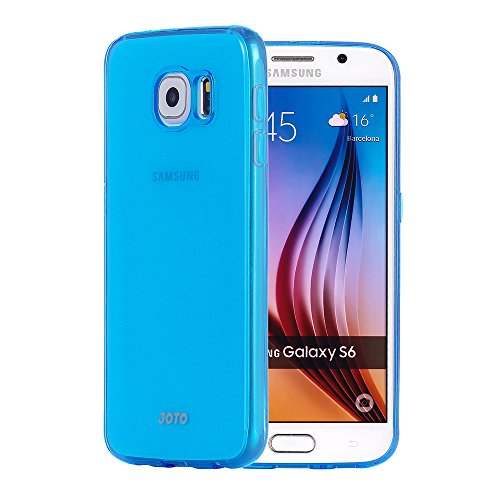 Galaxy S6 Case, [Slim Fit] JOTO Semi-transparent Cover Case for Samsung Galaxy S6 Slim, SM-G920 (2015), **NEW** Clear / Lightweight / Flexible Grip / Soft Slim Protective Case for Galaxy S6 (Blue)
