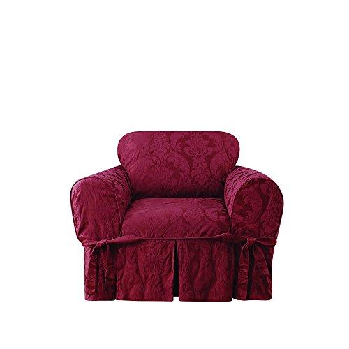 Sure Fit Matelasse Damask One Piece Chair Slipcover - Chili by Surefit (Image #1)