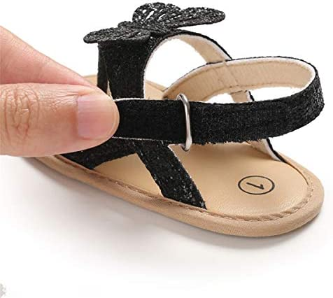 41rvRUEyYKL. AC - COSANKIM Infant Baby Girls Summer Sandals With Flower Soft Sole Newborn Toddler First Walker Crib Dress Shoes