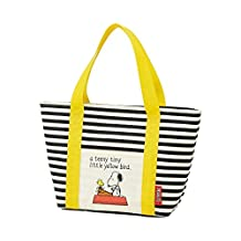 "Skater Peanuts ""Little Yellow Bird"" Striped Thermal Insulated Lunch Bag, Small"