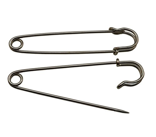 (Amanaote Silvery Safety Pins 100mm X 23 mm Size Jewelry For Kilts Blankets Skirts Crafts Pack of)