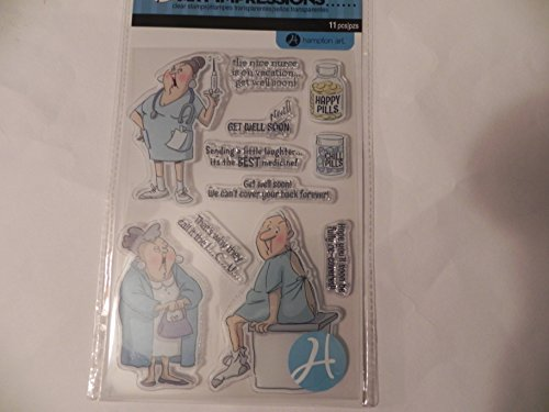 Art Impressions Unmounted Clear Stamps ~ Get Well