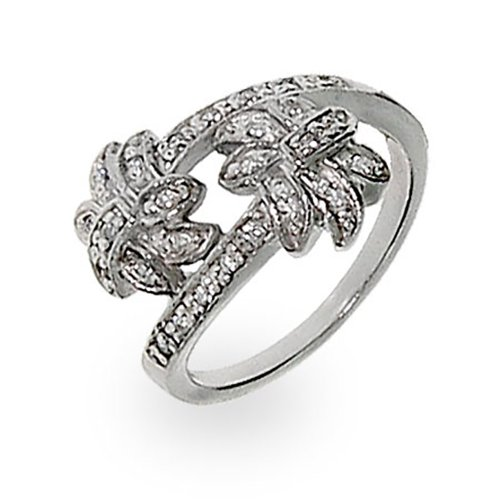 Sterling-Silver-White-Cubic-Zirconia-CZ-Palm-Tree-Ring