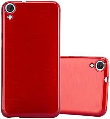 Cadorabo Funda para HTC Desire 820 en Rojo - Cubierta Proteccíon de Silicona TPU Delgada e Flexible con Antichoque - Gel Case Cover Carcasa Ligera