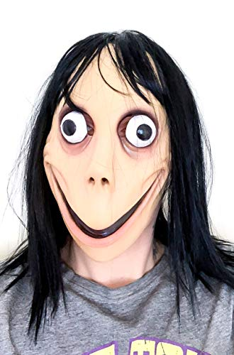 MOMO MASK Scary Latex HOT MOMO Mask First and Only! Halloween Mask Beige]()