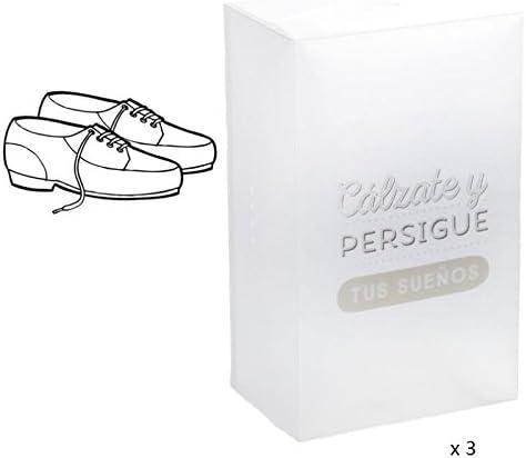 dcasa - Cajas plegables de Zapatos de Hombre de Plástico Transparente
