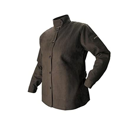 BSX AngelFire Women's Flame-Resistant Welding Jacket - Chocolate, Size Medium