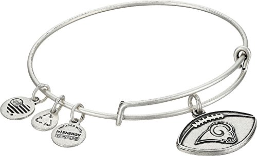 Alex and Ani Womens NFL Los Angeles Rams Football Bangle Rafaelian Silver