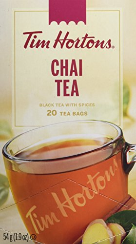 Tim Hortons Chai Tea Bags, 20 count, 54g | 1.9oz {Imported from Canada}