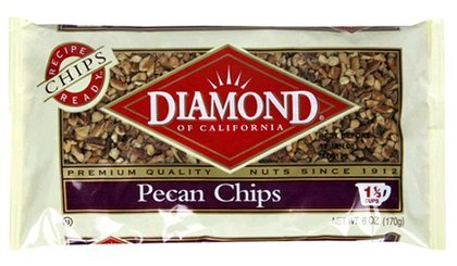 Diamond Pecans Chips 6OZ (Pack of 24) by Diamond Nuts