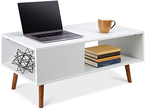 Best Choice Products Wooden Mid-Century Modern Coffee Table