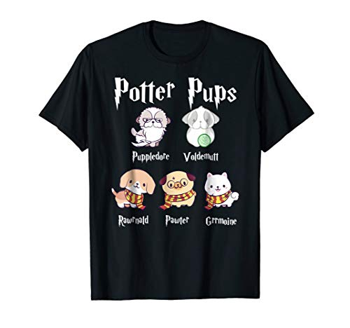 Harry Pawter Cute Puppy Dogs Potter Pups T Shirt for -