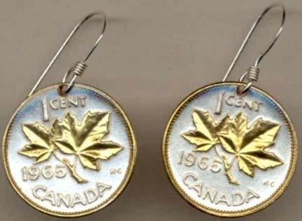 le LeafÓ Two Tone Coin Earrings ()