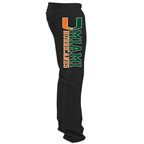 Men's Miami Hurricanes Sweatpants Black Size 3X