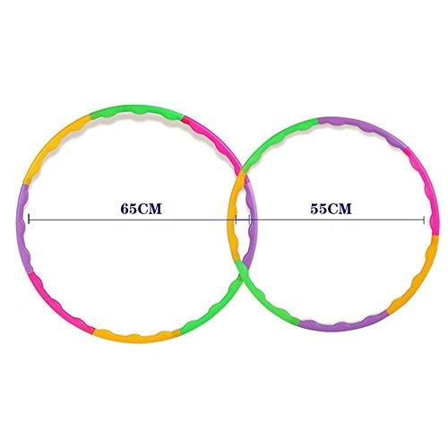 RUNSTAR Adjustable Colourful Kids Hula Hoop Child Sports Aerobics Fitness Gymnastic 55CM