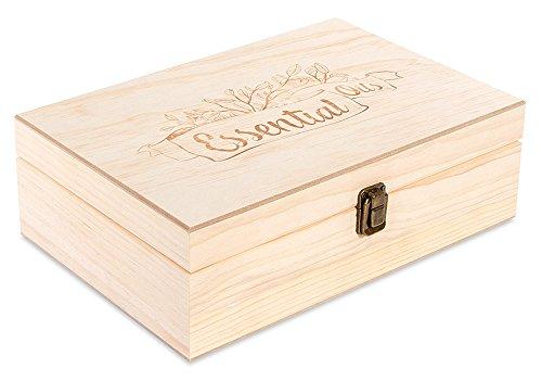 55 Count (Essential Oil Logo) Wooden Essential Oil Organizer Storage Box (Various Bottle Sizes)