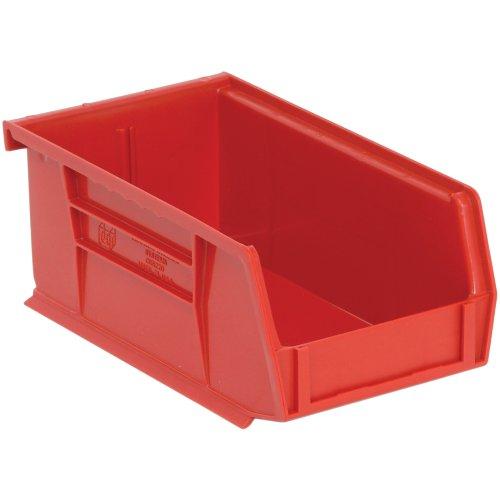 Edsal PB8501R High Density Stackable Plastic Bin, 4