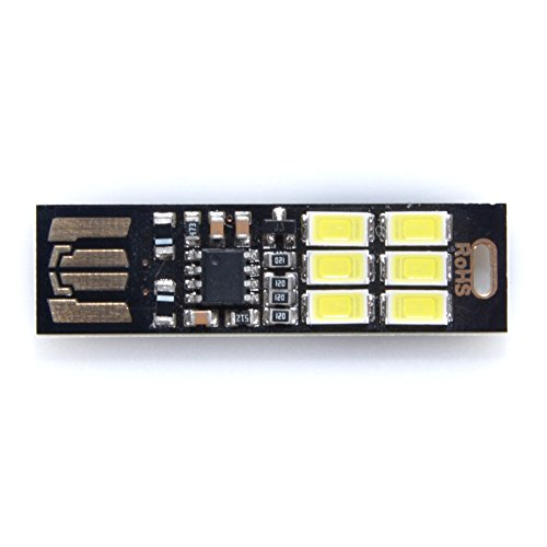 Yiding USB Power 6 LED Beads Night Light Touch Control Dimmable White Yellow Light Mini Lamp (0.11 Ounce Mini)