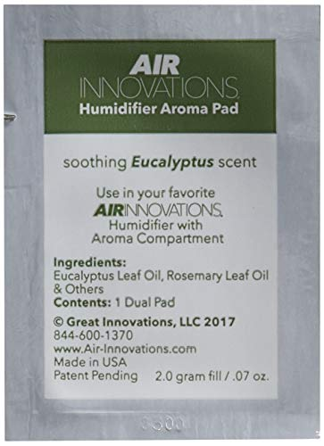 Air Innovations AP01-EUCALYPTUS Soothing Eucalyptus Essential Oil Humidifier Aromatherapy Refill Pads 12-Pack, White