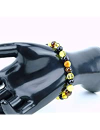 Genuine Baltic Amber Bracelet 'Pearls' 19cm (7.5inches) Cognac,Dark Cognac or Multicolor, Healing Amber