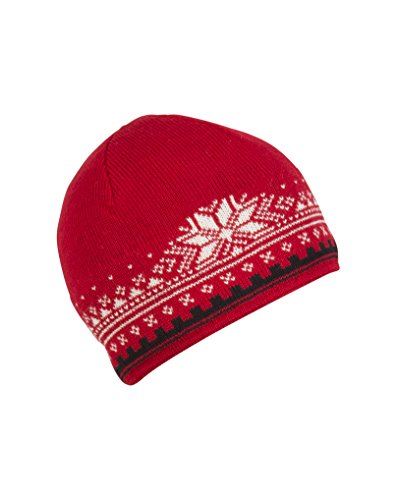 (Dale of Norway Anniversary Hat, Raspberry/Black/Off White)
