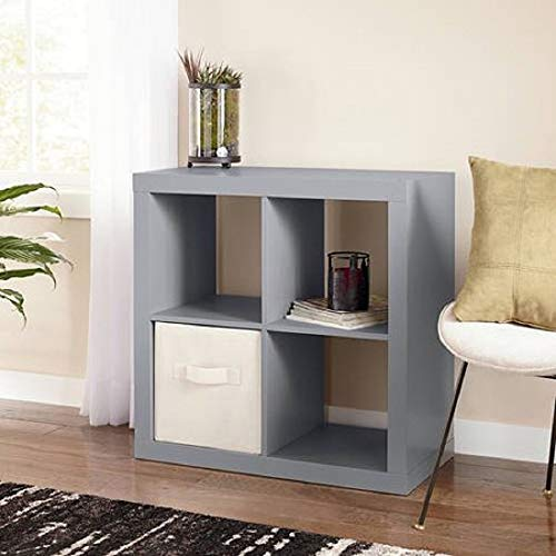 Better Homes and Gardens.. Bookshelf Square Storage Cabinet 4-Cube Organizer (Weathered) (Gray, 4-Cube) from Better Homes and Gardens..