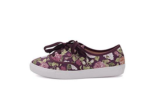 Mila Dame Blythe Kvinner Lerret Floral Snøring Flat Sneaker Fl / Vin