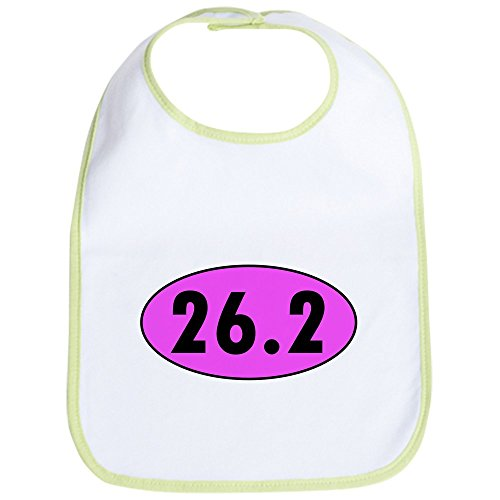 Marathon Runner 26.2 Oval (CafePress - Pink 26.2 Marathon Oval Bib - Cute Cloth Baby Bib, Toddler Bib)