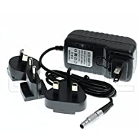 Eonvic 2-Pin LEMO to AC Teradek Power Adapter Cable With US EU Plugs