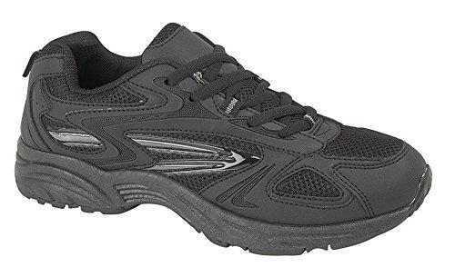 Dek - Zapatillas de running para hombre negro/gris