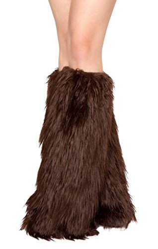 Sexy Furry GoGo Legwarmers Halloween (Brown Gogo Boots)