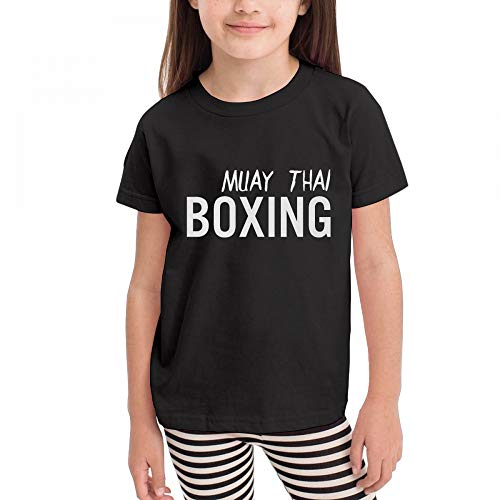 Antonia Bellamy Retro Muay Thai Boxing Martial Arts Kids Short Sleeve Crew Neck Graphic T-Shirts Tops by Antonia Bellamy