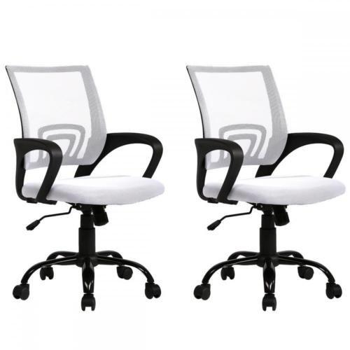 Black Ergonomic Mesh Computer Office Desk JRcWQmI Midback Task Chair w/Metal Base, 2 Pack by BystOffice