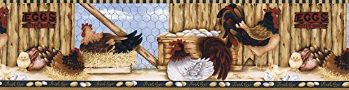 (Roosters Wallpaper Border LBO222B)