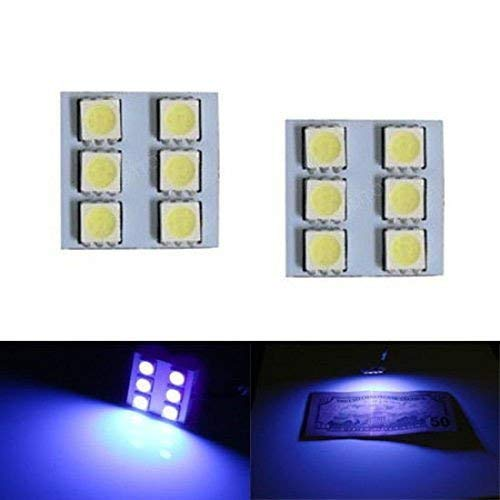 iJDMTOY (2) UV Ultra Violet 6-SMD LED Panel Lights For Car Interior Map/Dome/Courtesy Door/Foot Area/Trunk Cargo Lights (F150 2018 Remote Start)