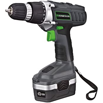 Amazon.com: Cordless Drill, WORKSITE CD312-18N 18-Volt 1200mA Ni-cd ...