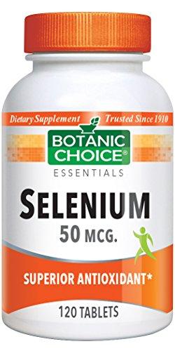 Botanic Choice Selenium 50 mcg, 120 Tablets (Pack of 5) (50 Tablets Selenium Mcg)