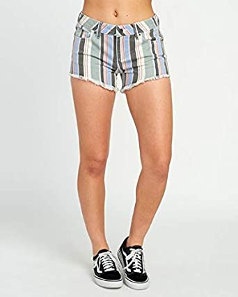 RVCA Womens Hello Mellow Denim Cutoff Shorts