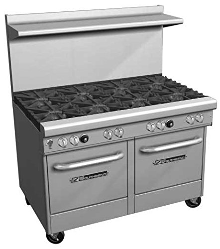48 Inch Freestanding Grill - Southbend 4481AC-3GL NG - 48-in Range w/ 2-Burners & Left Griddle, Convection Oven & Cabinet, NG