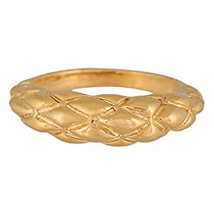 Venus Accessories Women's Gold Plated Alloy Ring - Size 6