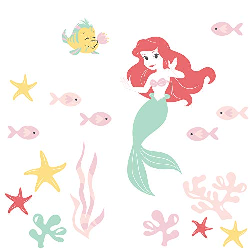 Disney Baby Ariel's Grotto Red/Pink Mermaid Wall Decals by Lambs & ()