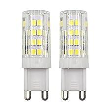 Dayker G9 LED Bulbs, 5W (40W Halogen Replacement), G9 Caremic Base JD Type Lightbulb, 360 Degree Daylight 6000K Light Bulb for Closet Accent Lighting (2-Pack)